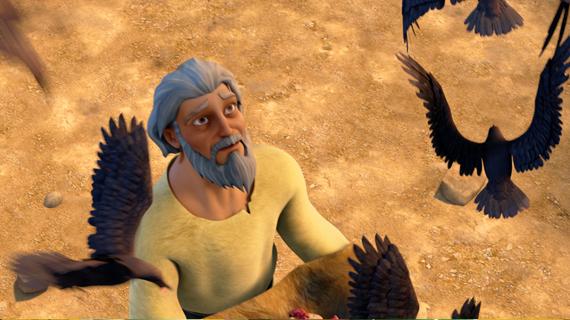 Birds Deliver Food to Elijah