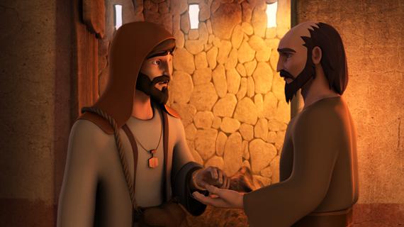 Samariteanul îl ajută pe evreu