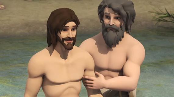 John Baptizes Jesus