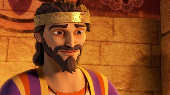 Regele Solomon ascultă cearta